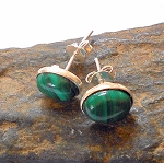 Malachite Sterling Silver Post Earrings