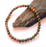 Unakite Stretch Bracelet Mini