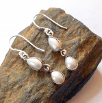 White Pearl Sterling Silver Earrings