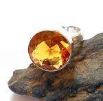 Citrine Sterling Silver Ring Size 7.5