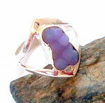Grape Agate Sterling Silver Ring Size 9