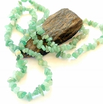 Green Aventurine Long Chip Necklace