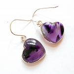 Auralite 23 Sterling Silver Heart Earrings