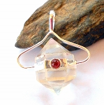 Herkimer Diamond and Garnet Pendant