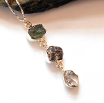 Herkimer Diamond and Meteorite Necklace