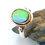 Abalone Shell Sterling Silver Ring Size 6.5