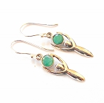 Emerald Sterling Silver Goddess Earrings