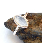 Moonstone Sterling Silver Ring Size 6