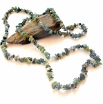Moss Agate Long Chip Necklace