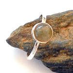 Labradorite Sterling Silver Ring Size 9