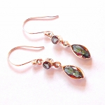 Rainbow Topaz Sterling Silver Earrings