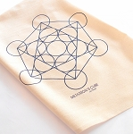 Metatrons Cube Crystal Grid Cloth - 20x20