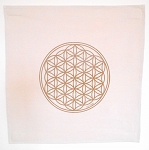 Flower of Life Crystal Grid Cloth -  20x20 Brown