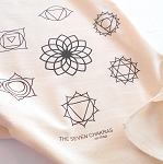 Seven Chakras Crystal Grid Cloth - 20x20