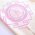 Sri Yantra Crystal Grid Cloth - 20x20