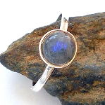 Labradorite Sterling Silver Ring Size 8