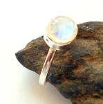 Moonstone Sterling Silver Ring Size 5