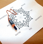 Lotus Flower Pendulum Chart - Digital Download