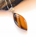 Tigers Eye Sterling Silver Necklace