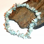 Larimar Chip Stretch Bracelet