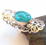 Turquoise Sterling Silver Ring Size 7.5