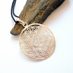 Flower of Life Om Symbol Necklace