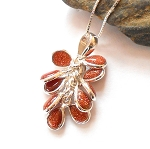 Goldstone Sterling Silver Necklace