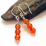 Orange Carnelian Sterling Earrings