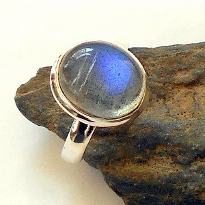 Labradorite Sterling Silver Ring Size 7.75