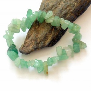 Green Aventurine Chip Stretch Bracelet