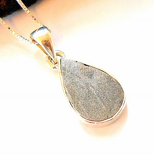 Gibeon Meteorite Sterling Silver Necklace