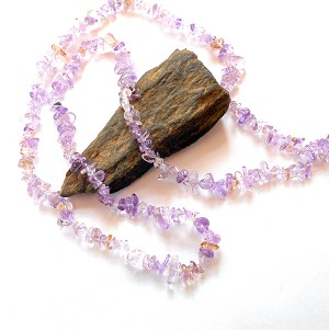 Ametrine Long Chip Necklace
