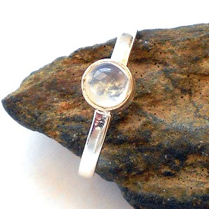 Moonstone Sterling Silver Ring Size 8