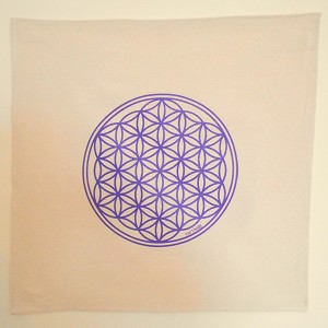 Flower of Life Crystal Grid Cloth -  20x20 Purple