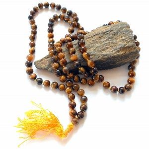 Tigers Eye Hand Knotted Japa Mala