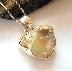 Raw Ethiopian Opal Necklace