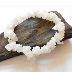 Moonstone Chip Stretch Bracelet