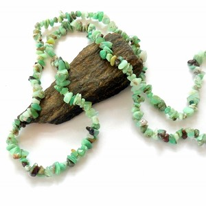 Green Opal Long Chip Necklace