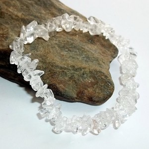 Rock Crystal Chip Stretch Bracelet