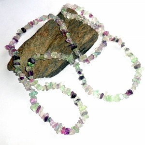 Fluorite Long Chip Necklace