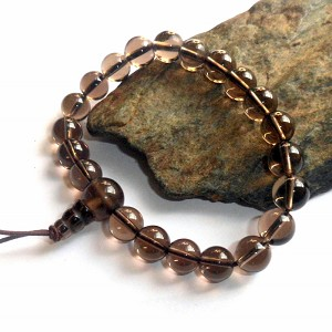 Smoky Quartz Mala Power Bracelet