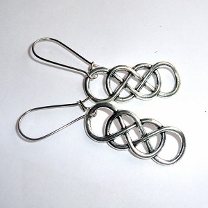 Tibetan Silver Double Infinity Symbol Earrings