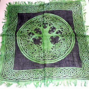 Green Tree of Life Altar Cloth