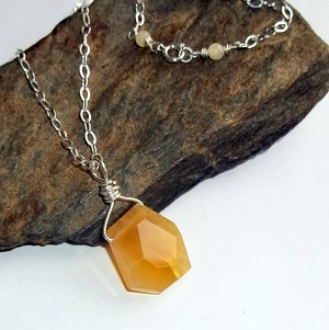 Yellow Opal Gemstone Necklace